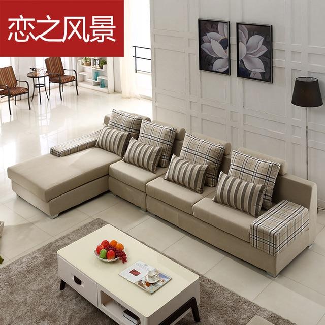 Floating Landscape Sofa Fabric Combination Of Modern Minimalist Small Apartment L Shaped Corner Washable