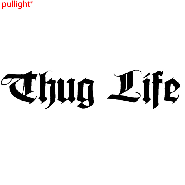 Thug life funny car window bumper jdm vinyl decal sticker colour choice