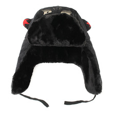 2017 Men Lei Feng Winter Hat Pilot Outdoor Ear Flaps Bomber Cap Proof Trapper Russian Hat New Cartoon Warm Thicken Caps(China)