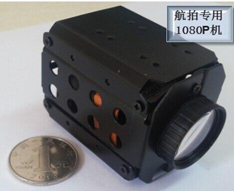 1080 P HD aéronef sans pilote (UAV) caméra 10x ZOOM automatique 1080 P enregistrement TF stockage AV sortie vidéo aérienne photographie caméra petite taille