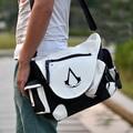 Assassins Creed White PU Shoulder Bag Laptop Bag School Bag In Stock