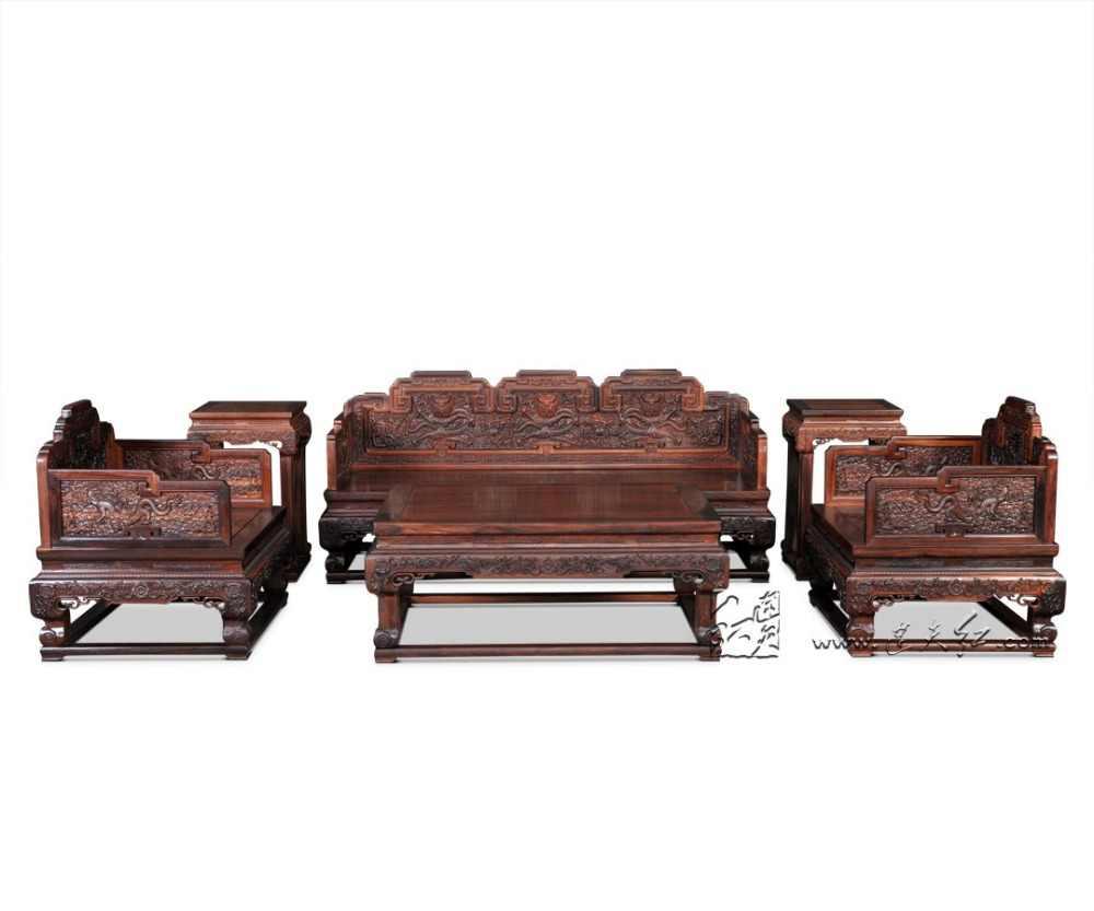 1 + 3 siedzenia Sofa garnitur birma palisander meble do salonu 6-sztuk zestaw Hotel luksusowy szezlong z litego drewna tron stoły