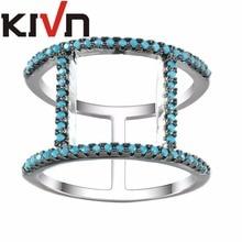 KIVN Womens Fashion Jewelry CZ Cubic Zirconia Wedding Bridal Engagement Rings Mothers Girls Birthday Christmas Promotion Gifts