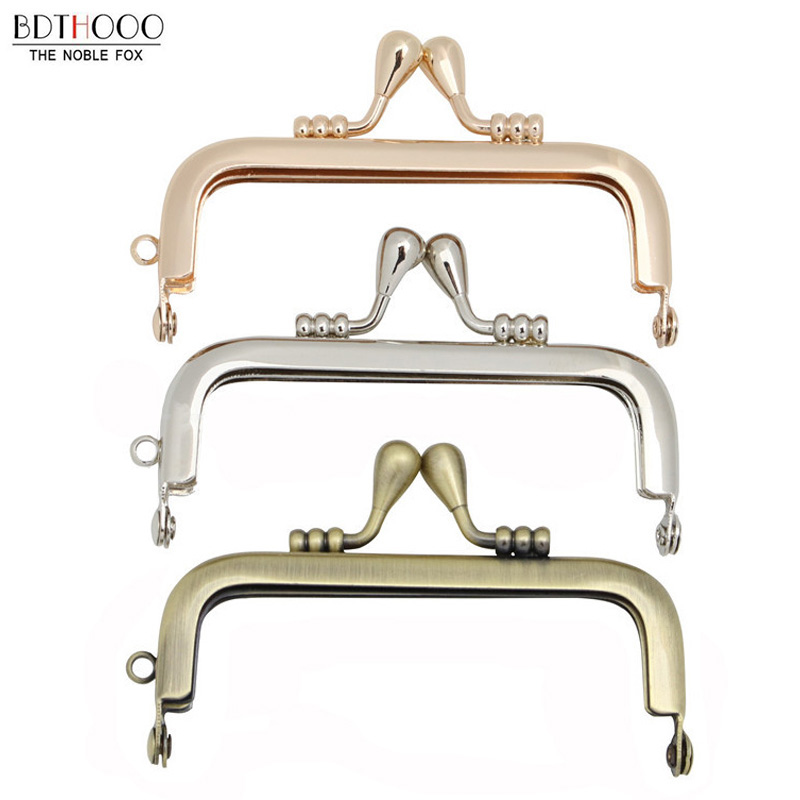 8.5 Cm Non-porous Metal Purse Frames DIY Coin Purse Frame For Bag Parts Kiss Clasp Metal Frame Accessories For Bags