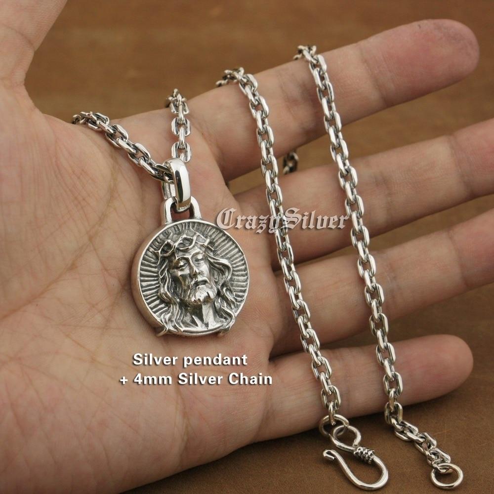 925 Sterling Silver Jesus Christ Charms Biker Rock Punk Pendant TA39A отсутствует jesus christ 100 and 1 quotes