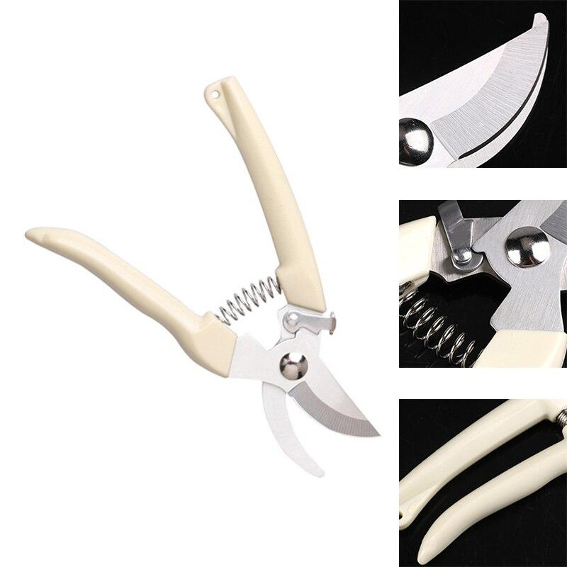 Anti-slip Secateurs Pruning Scissor Garden Hand Tool Stainless Steel Cutting Pruners Tree Branch Shear