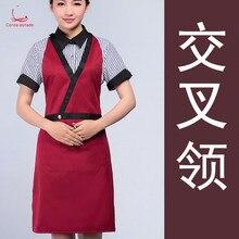 Coffee shop milk tea work apron custom LOGO fast food restaurant supermarket flower waitress