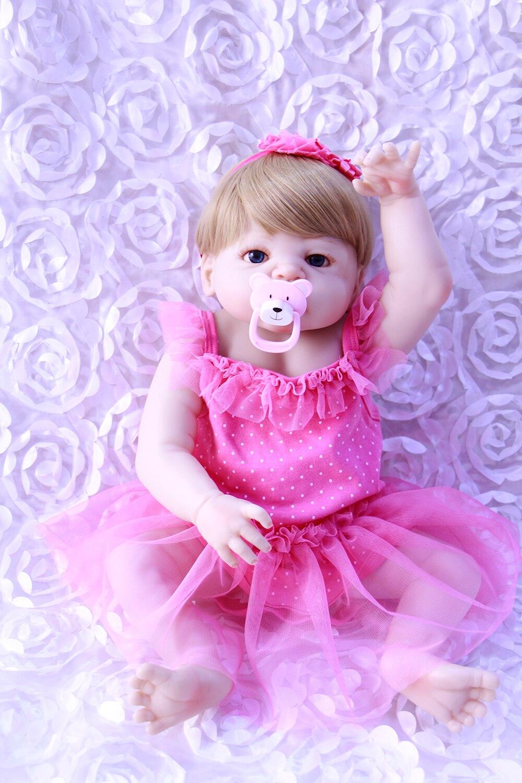 Doll Baby 55CM 22inch NPK Doll Bebes Reborn Dolls Girl Lifelike full Silicone Reborn Doll Fashion girl Newborn Reborn BabiesDoll Baby 55CM 22inch NPK Doll Bebes Reborn Dolls Girl Lifelike full Silicone Reborn Doll Fashion girl Newborn Reborn Babies