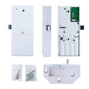 Image 3 - 指紋パスワードコンビネーションスマートロックデジタル電子ドアロックセキュリティインテリジェントパスワードロックホーム警報