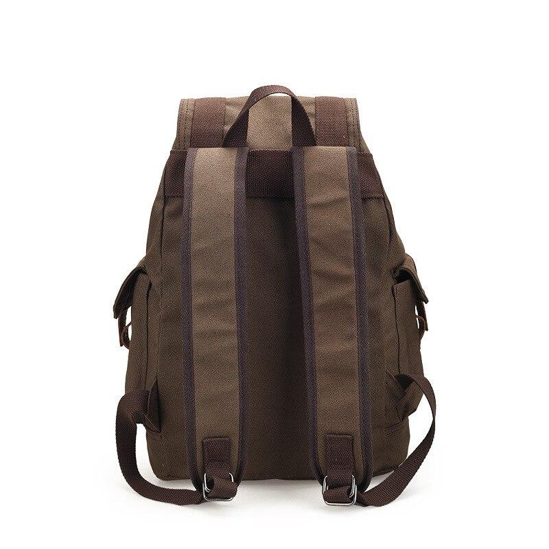 Image 5 - Scione women's Canvas Backpack School Rucksack Men Drawstring Backpacks Women Travel Shoulder Bagpack Teenagers Laptop Back Pack-in Backpacks from Luggage & Bags