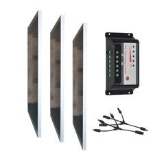 Panneaux Solaire Kit 300w 36v Panneau 12v 100w 3Pc Controller 12/24v 30A Solar Battery Charger Motorhome System RV