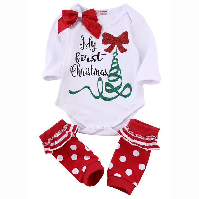 d3446bcf98c37 New Baby Bodysuit Christmas Jumpsuits Spring Autumn Coveralls Tee Socks Set  Photography Props Boys Girls Clothes Baby Clothing-in Bodysuits from ...
