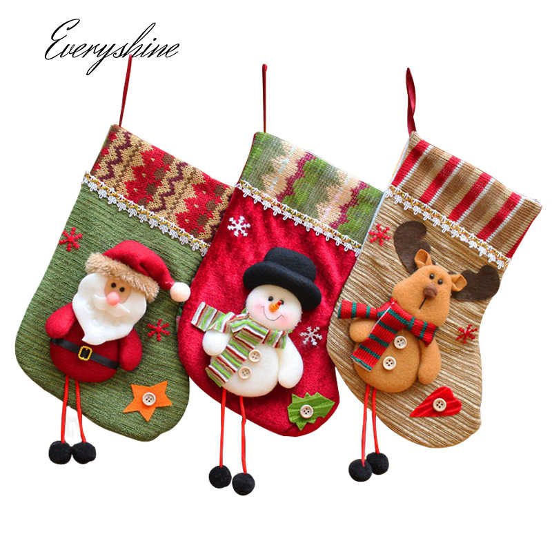 Christmas Tree Stocking Holder.Christmas Stocking Holder Santa Claus Sock Christmas Tree Hanging Ornament Gift Candy Bags Xmas Festival Decoration Craft Ds51