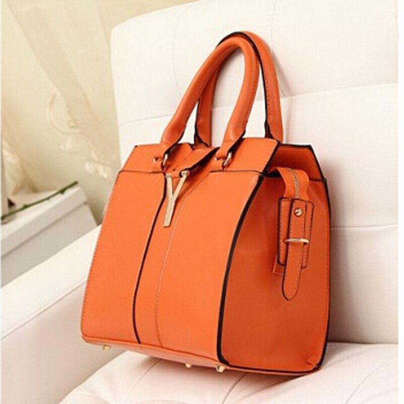 9910a6491 Moda naranja grande del bolso forme a mujeres pu bolso de cuero damas bolsos  informales portátiles bolsos de diseño de alta calidad en Crossbody bolsos  de ...