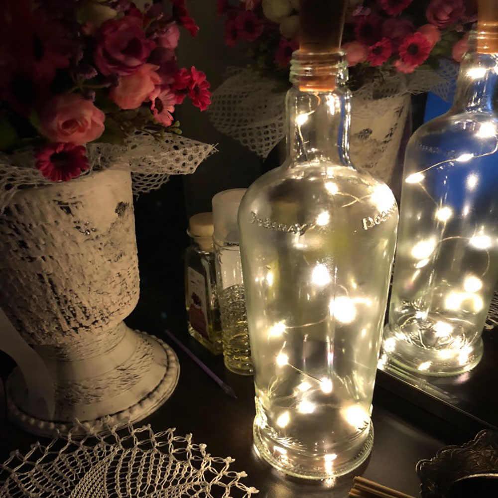 ทองแดง String Light ขวด Stopper 1 m/2 m Cork ขวดไวน์ไฟตกแต่งสำหรับ Alloween คริสต์มาส holiday Party