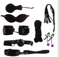 adult sex products 7pcs/set Role Play faux leather Fetish Restraint Bondage Kit Mask Ball Gag HandCuffs Sex toy for man