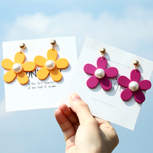 2019 New Korean Style Earrings Girls Cute Flowers Fashion Sweet Valentines Day Gift Jewelry Wholesale