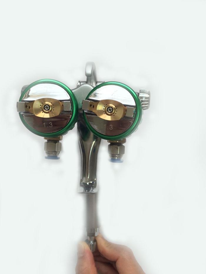 SAT1189 kuuma müügi topeltpihustiga pihustuspüstol Hiinast parimatest tööriistadest auto õhuvaba pihustiga autovärvipüstol