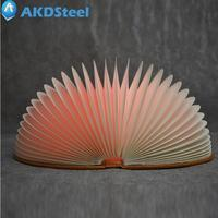 AKDSteel Magnetic Foldable 7 Colors LED Book Night Light Remote Control Desk Table Lamp USB Rechargeable