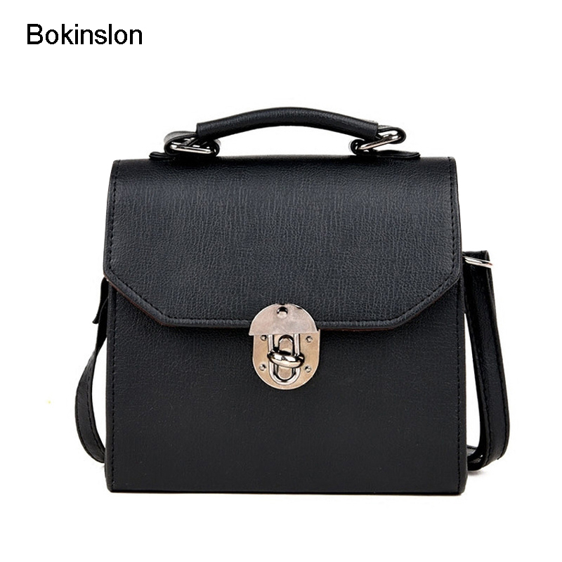 Bokinslon Girls Crossbody Bag Fashion Cute Woman Shoulder Bags PU Leather Small Fresh Ladies Small Square Bags new woman shoulder bags cute canvas women big bags literature and art cartoon girls small fresh bags casual tote