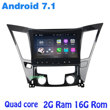 Android 7.1 Quad core Car radio gps for Hyundai SONATA 2011-2014 with wifi 4G usb bluetooth mirror link auto Stereo
