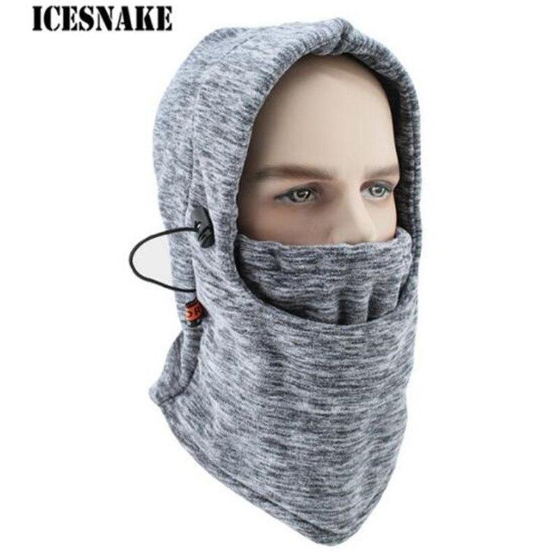 Winter Wool Cycling Cap Windproof Thermal Face Mask Balaclava Bike Neck Hat Warm