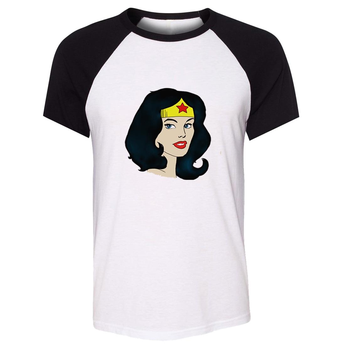 1706277bde8af US $10.06 47% OFF iDzn Unisex Summer T shirt DC Diana Prince Wonder Woman  Stars Head portrait Art Pattern Short Sleeve Men T shirt Casual Tee Tops-in  ...