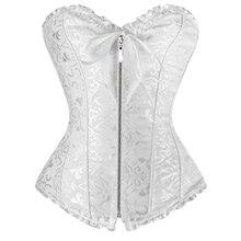 Sexy women corse Plus size Corset zipper overbust bustier shapewear burlesque korsett corpete corselet e espartilho S – 6XL E10