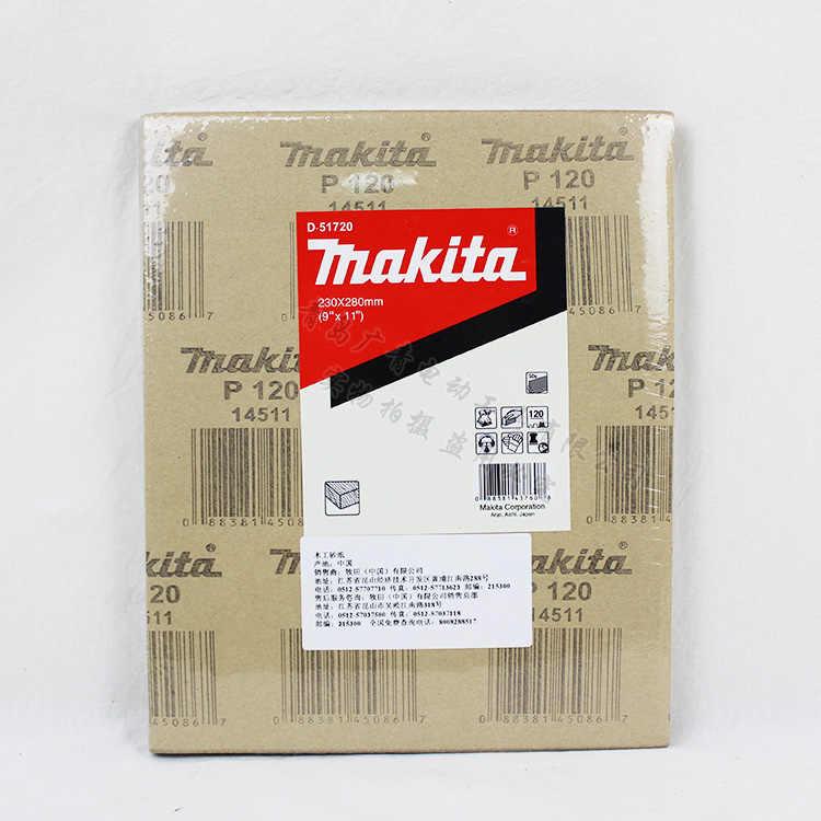 Япония Makita шлифовальная наждачная бумага для полирования машина шлифовальная бумага деревообрабатывающая мебель деревянная полировальная наждачная бумага