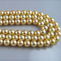 16 inches 6.5-7mm AAA High Luster Gold Round Natural Salt water Akoya Pearl Loose Strand