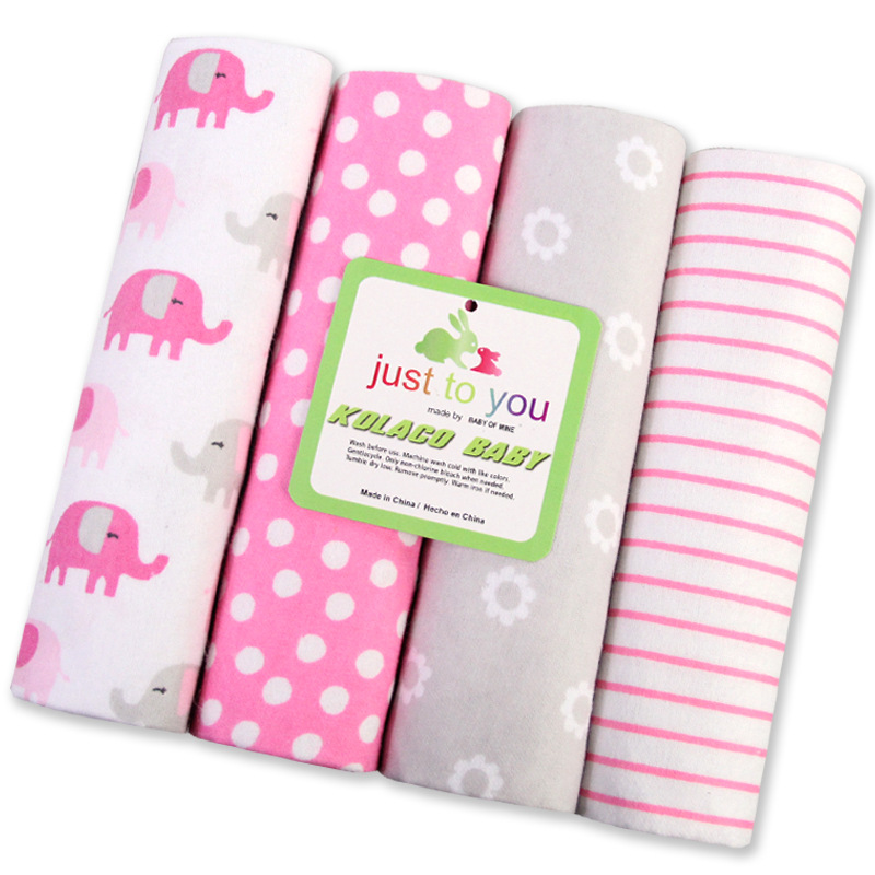 4 Pcs/set 100% Cotton Super Soft Flannel Baby Blanket Swadding Baby Bedsheet 76*76cm Baby Blankets Newborn Baby Girl Boy Blanket & Swaddling Mother & Kids