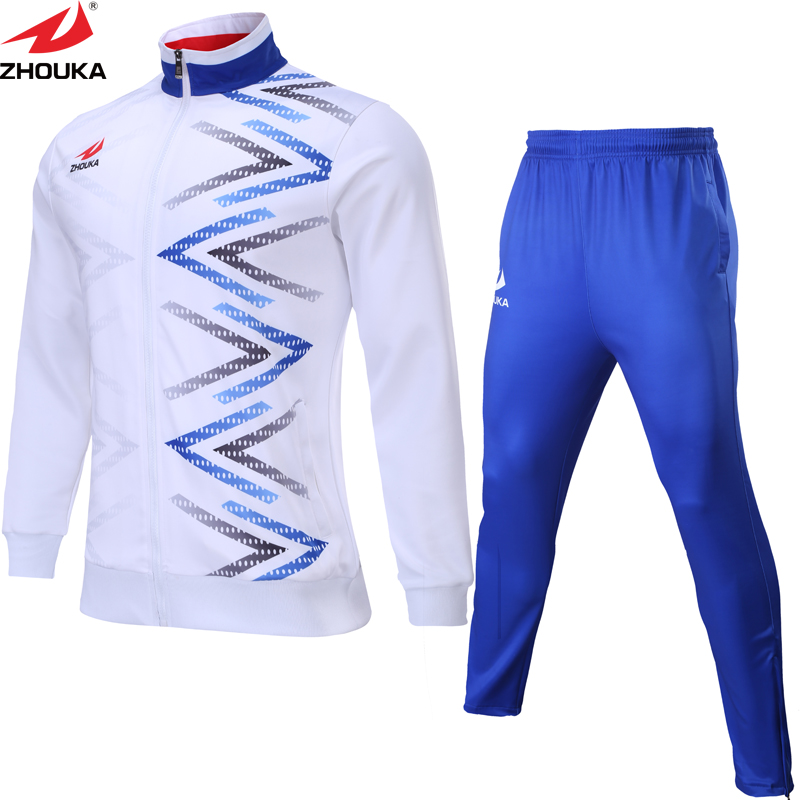 c5ac6b3502 US $34.96 8% OFF|2019 men white color soccer sport coat sublimation sport  tracksuit customizing available design sport jack-in Trainning & Exercise  ...