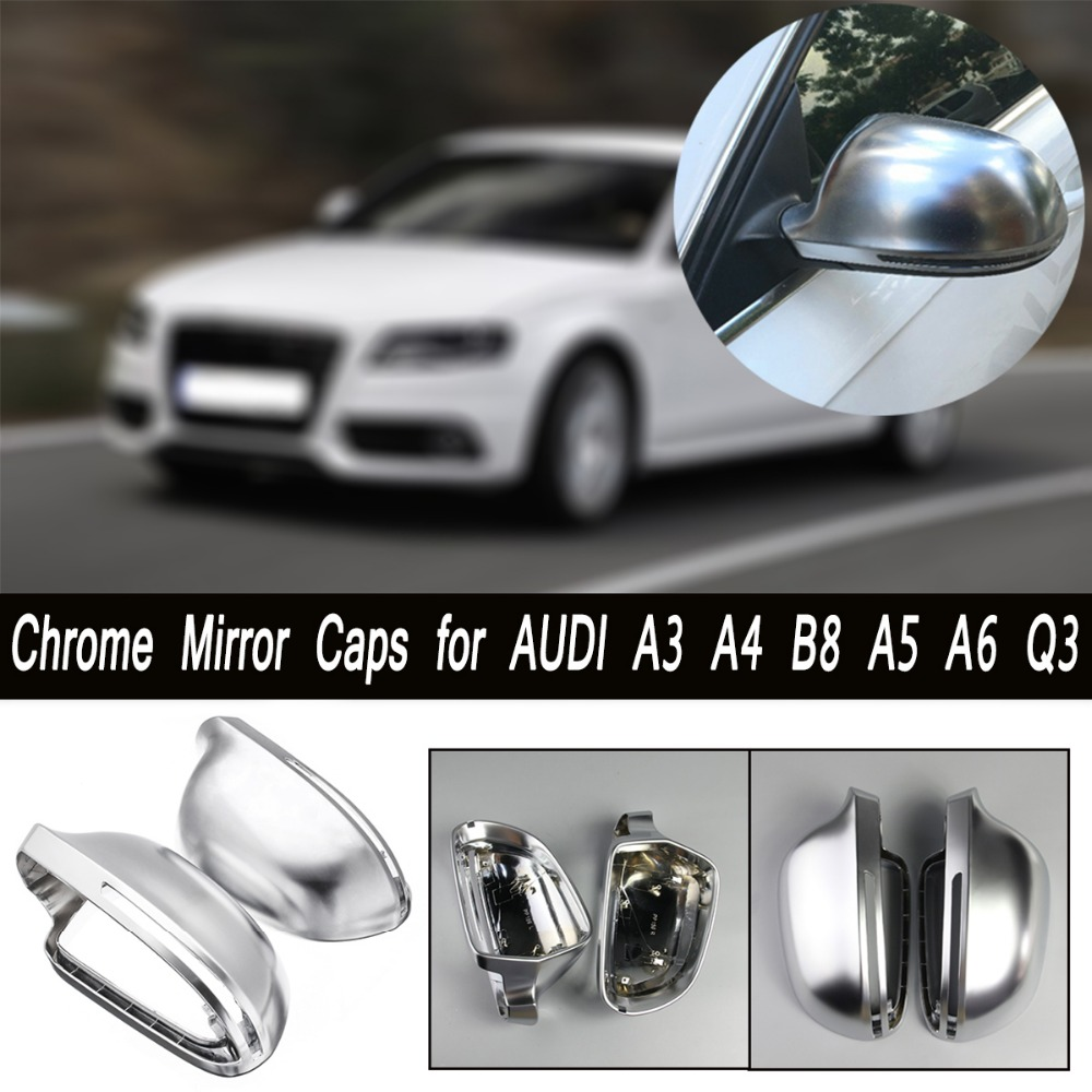 Side Wing Mirror Cover Shell For Audi A3 A4 B8 A5 A6 S-Line Style Silver Rearview Mirror Caps Cups Matte Replacement the classic tarot карты