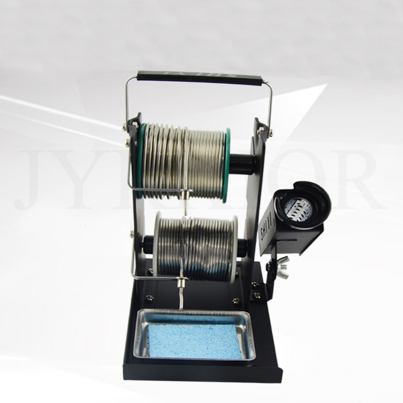Double-Layer Multifunctional Soldering Iron Stand Tin Solder Wire Rack Line Seat Tin Support Tin Wire Welding Wire Bracket