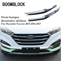 Automobile Car-styling Stickers For Hyundai Tucson 2017 2016 2015 Front Bumper Fog Light Frame Protective Trim Cover Accessories