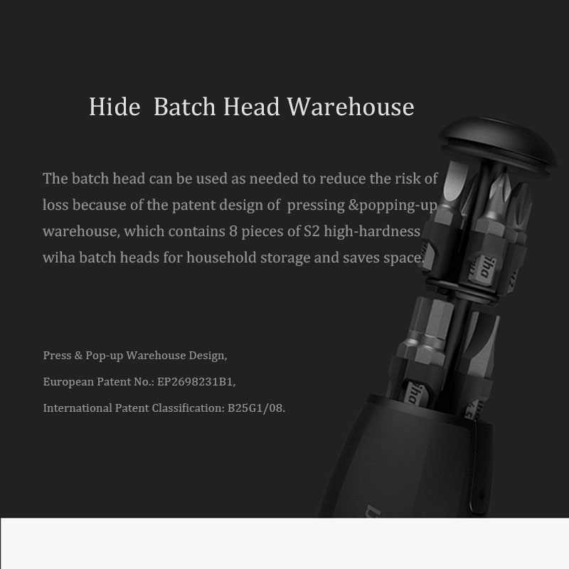 Original Xiaomi Wiha 8 in 1 Ratchet Screwdriver Set High Precision Magnetic Mini Screw Driver Bit Set Smart Home Kits