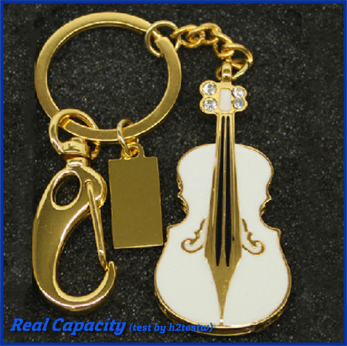 free shipping metal pendrive musical instruments pen drive violin usb flash drive keychain jewelry 2gb 4gb 8gb 16gb 32gb