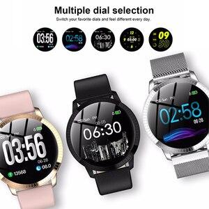 Image 5 - גברים SmartWatch נשים שעון חכם אנדרואיד קצב לב לחץ דם ip68 עמיד למים gps sim גשש כושר wristbands צמיד