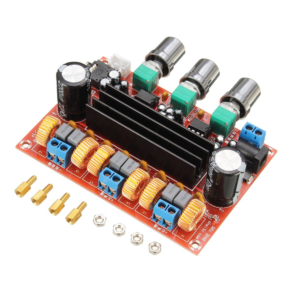 Amplifier Board Kit 50wx2 100w High Power 21 Channel Digital Hi Fi 1channel Amp Wiring Diagram Bass Stereo Subwoofer 12v 24v In Multichannel Amplifiers From
