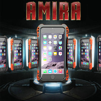 Newest AMIRA Case For IPhone 6 4 7 Waterproof Shockproof Carbon Fiber Metal Gorilla Glass Anti