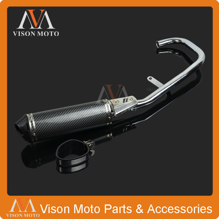 High Performance Chrome Exhaust System Muffler Pipe For Honda CG 125CC CG125 Motorcycle Motor bike