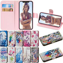 Luxury 3D Style Leather Flip Wallet Case Phone Soft Silicone Back Cover Coque Funda for iPhone 5 5S SE 6 6S 7 8 Plus X XS Max XR цена и фото