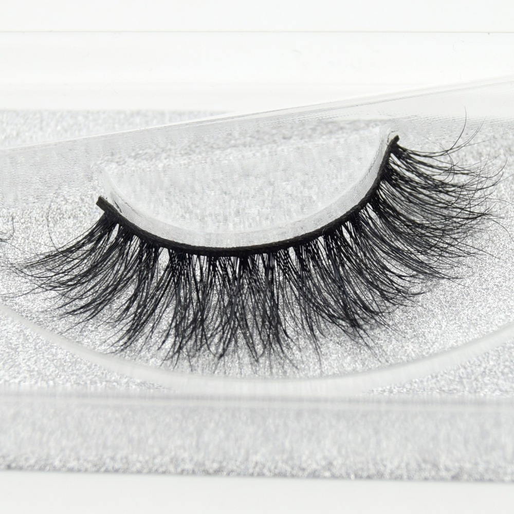 Visofree Eyelashes 3D Mink Eyelashes Long Lasting Mink Lashes Natural Dramatic Volume Eyelashes Extension False Eyelashes D02