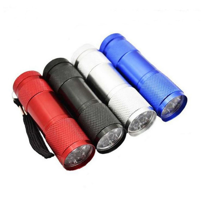 Elfeland Mini Aluminium Taschenlampe 9LED Beleuchtung Taschenlampe
