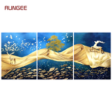 100% Hand Painted Abstract Golden Cloud Art Painting On Canvas Wall Adornment Picture For Live Room Home Decor