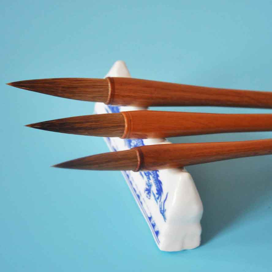 3 pcs/set Chinese Calligraphy Brush Set Weasel hair Drawing Brush WaterColor Brush Art Supply Stationary Gift Pen Curtain