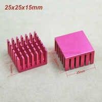 (20pcs/lot) Aluminum Purple Heat Sink Heatsink Radiator 25mm*25mm*15mm For integrated circuit IC MOS Transistor