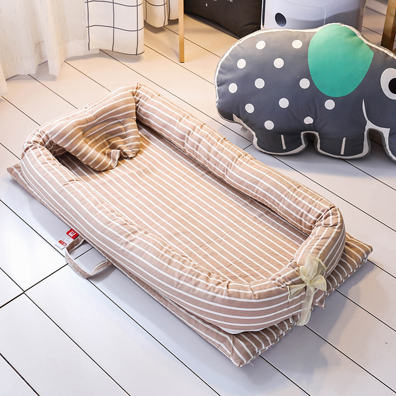 Foldable Baby Travel Bed Portable Newborn Nursery Crib Sleep Pod with Cot Bed Bumper Mattress Baby
