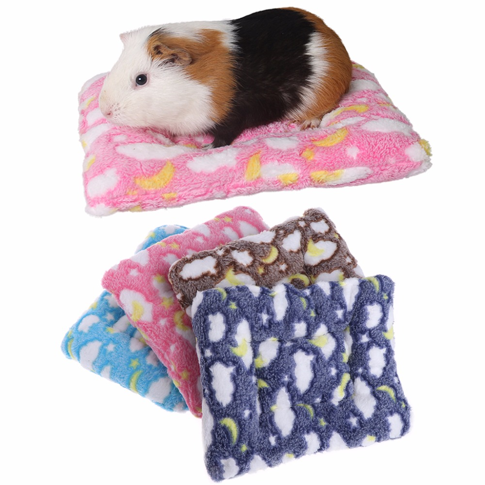 Hamster Small Animal Solid Winter Warm Round Cage Mat Fleece Sleeping Bed Pet Bed Rat Hamster Accessory Sleeping Bag Outdoor Home & Garden