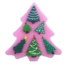 kinds of christmas tree shape silicone cake mold cookie jelly chocolate candy baking mould fondant cake decorating tools - Kinds Of Christmas Trees